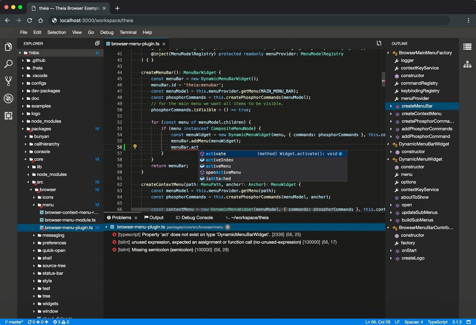 Eclipse theia vs code