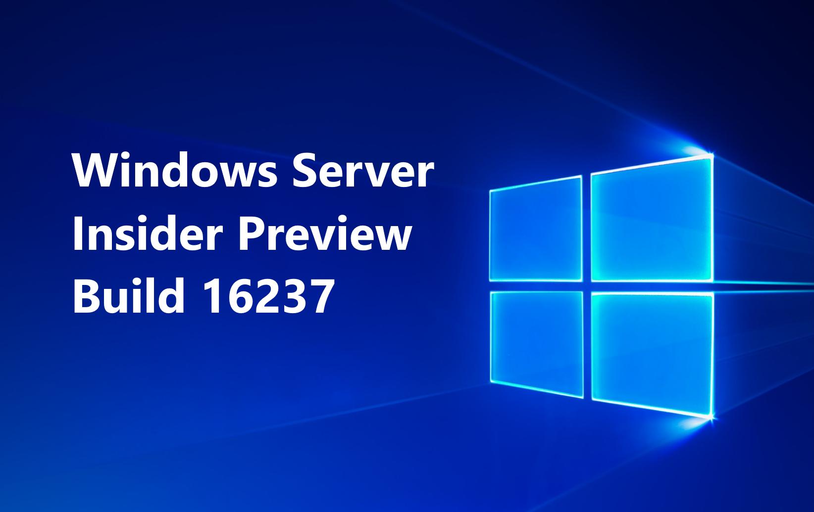 Windows Server Insider Preview Build Release Tracker (2017