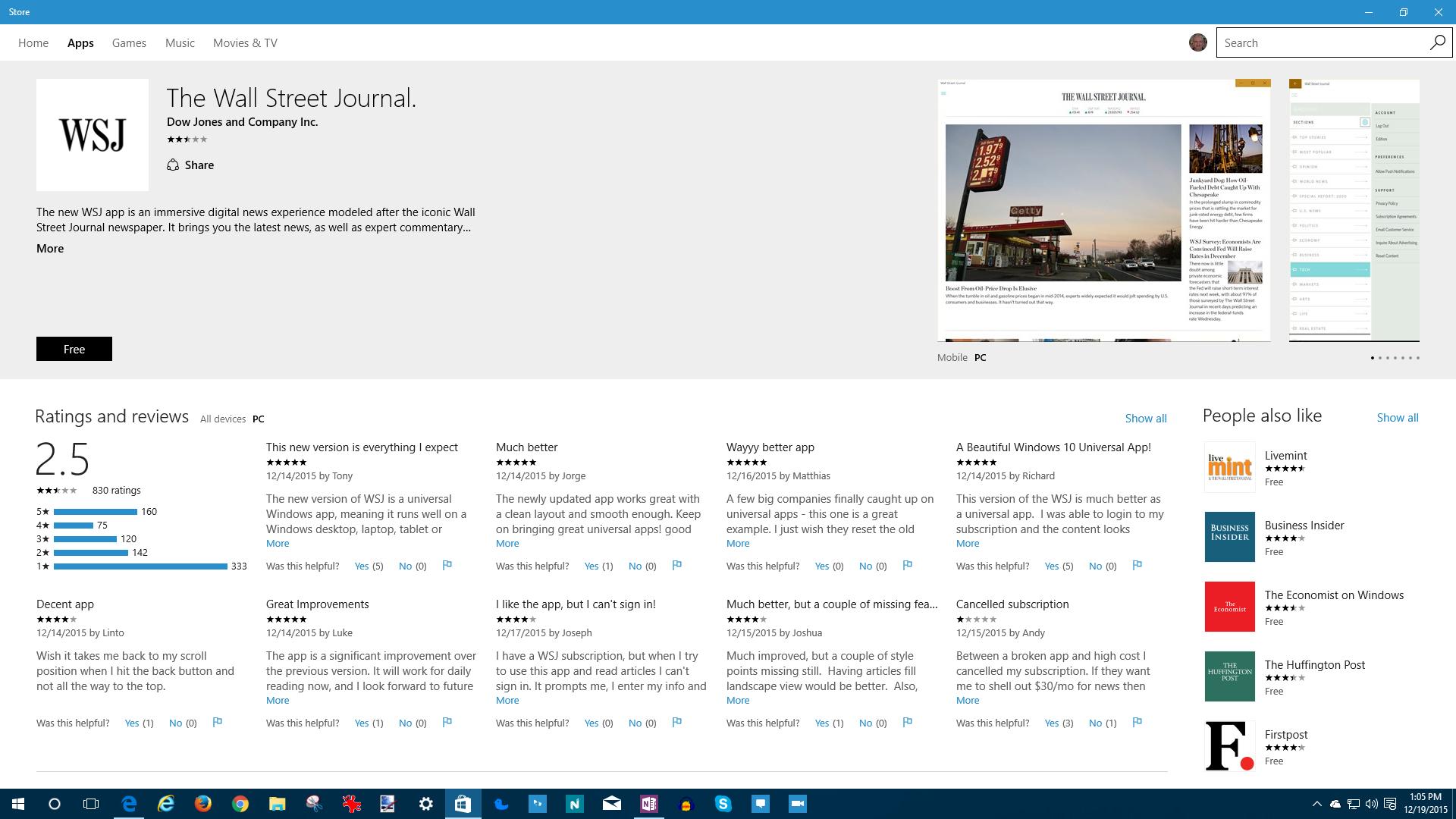 Big name Universal Windows Platform apps start to arrive on
