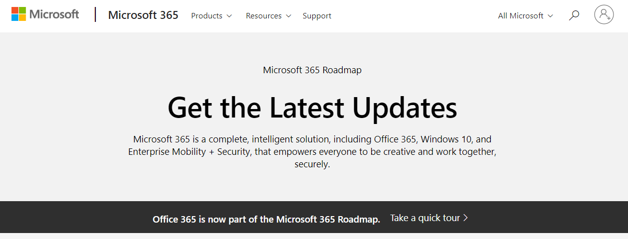 Microsoft 365 Roadmap Includes Office 365