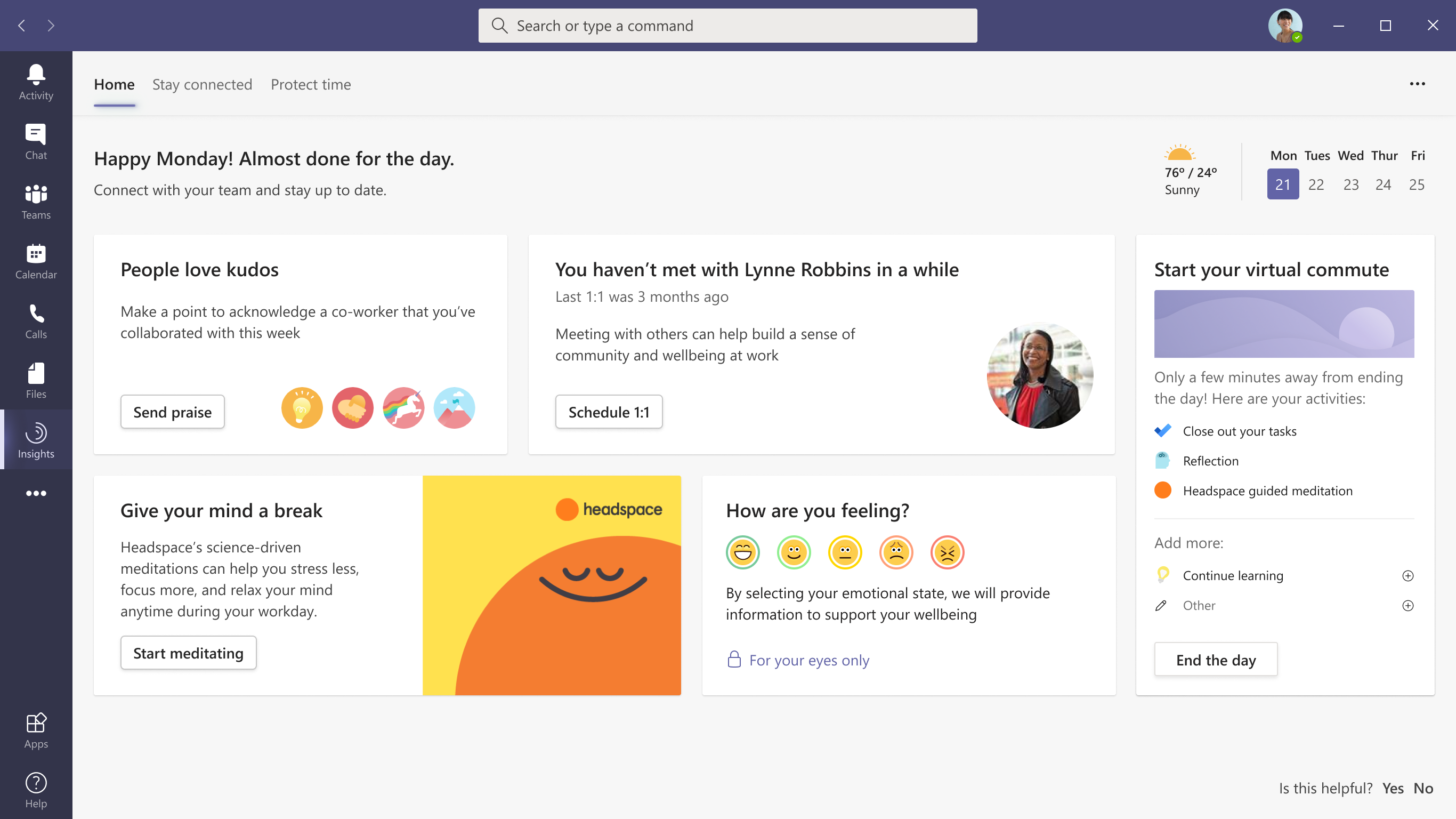 microsoft 365 virtual commute feature in microsoft teams