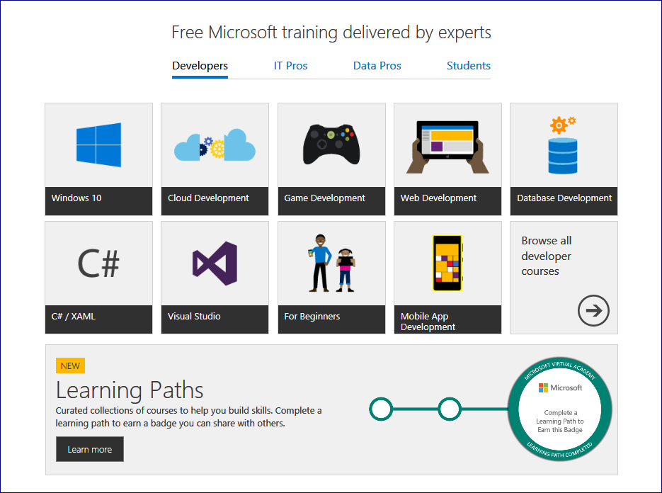 Microsoft Virtual Academy Adds Learning Paths For Skills Development
