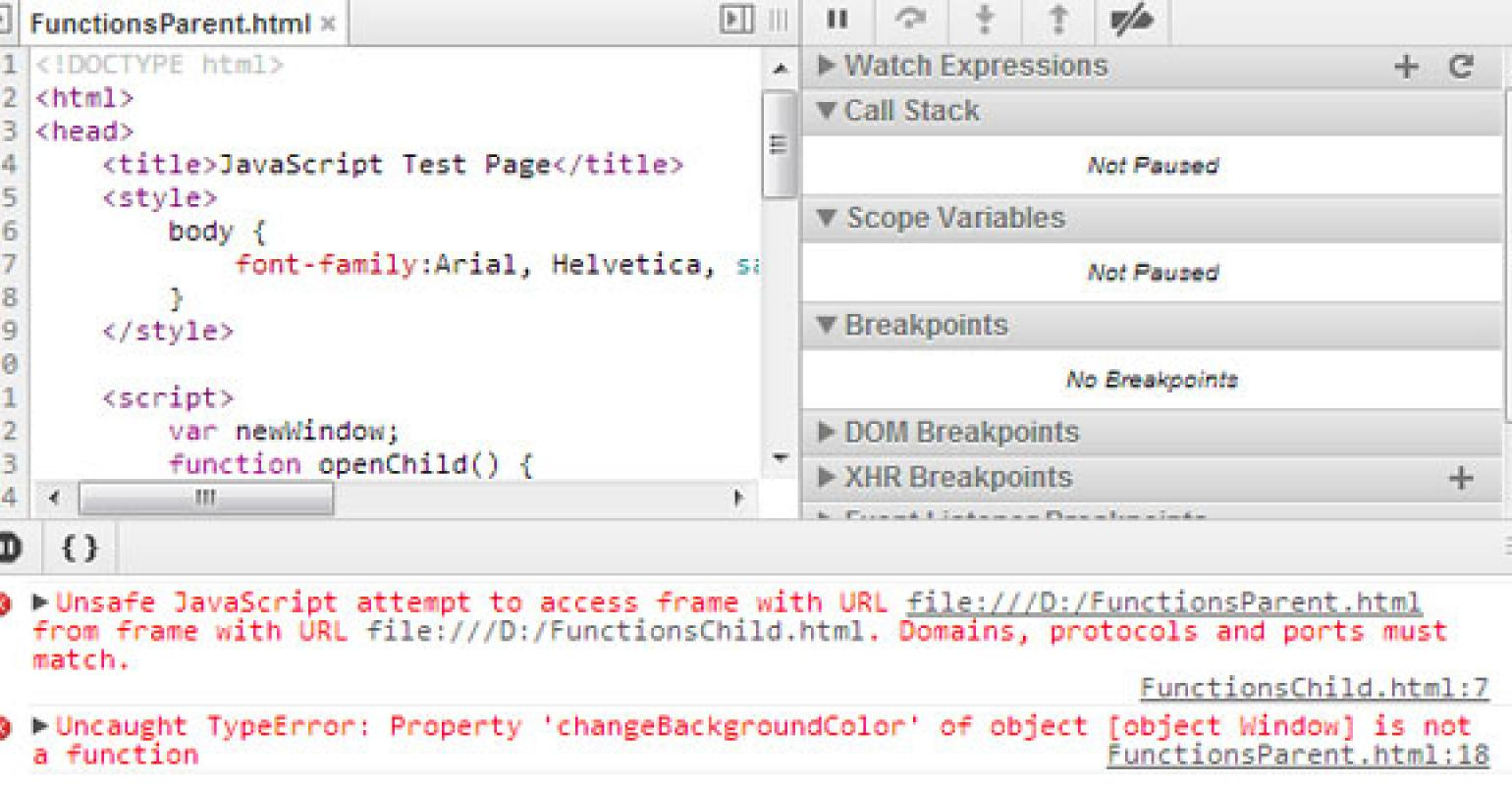 Working with the File Protocol in Google Chrome, IE, and