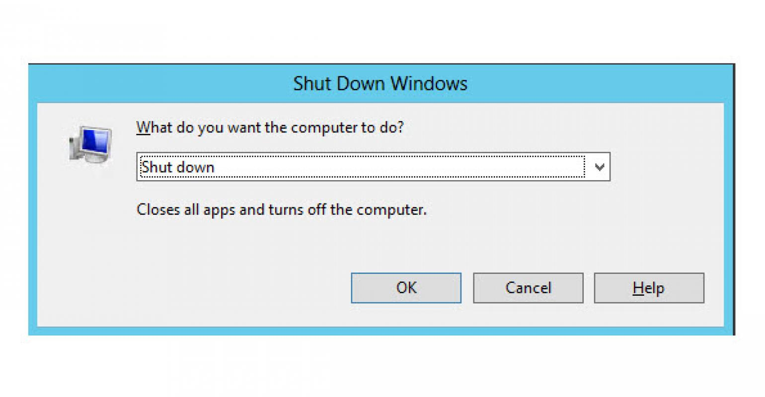How to Shut Down Windows Server 2012 / Windows 8 through