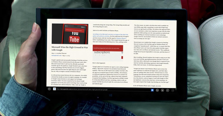 Windows 8 1 Tip: Better Reading with Internet Explorer 11