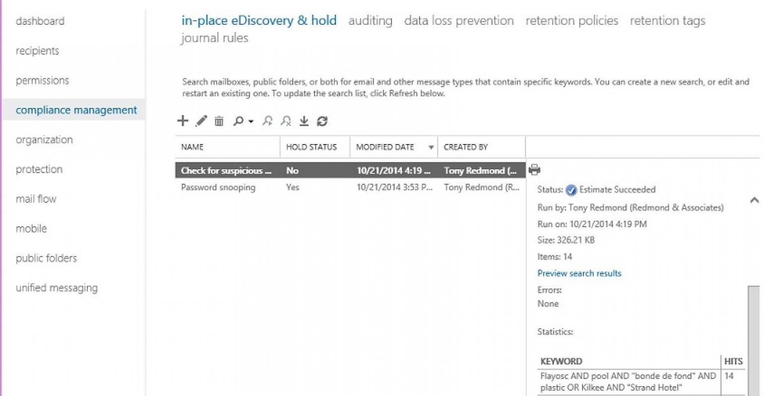 Exchange Online increases eDiscovery mailbox limit and