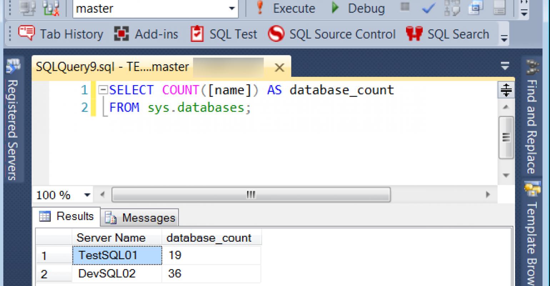 Hidden Gems in SQL Server Management Studio: Registered
