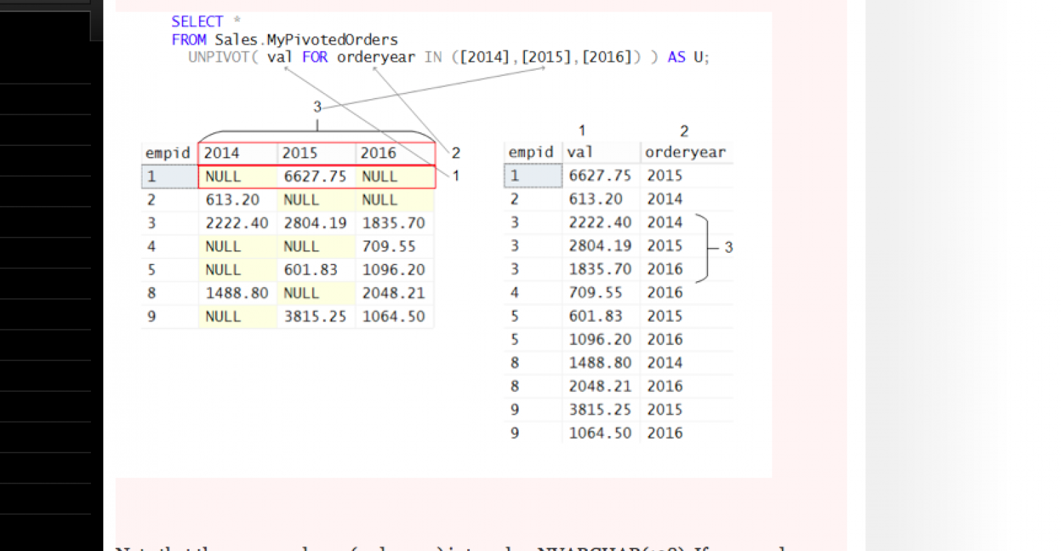Logical Query Processing Part 5: The FROM Clause and UNPIVOT