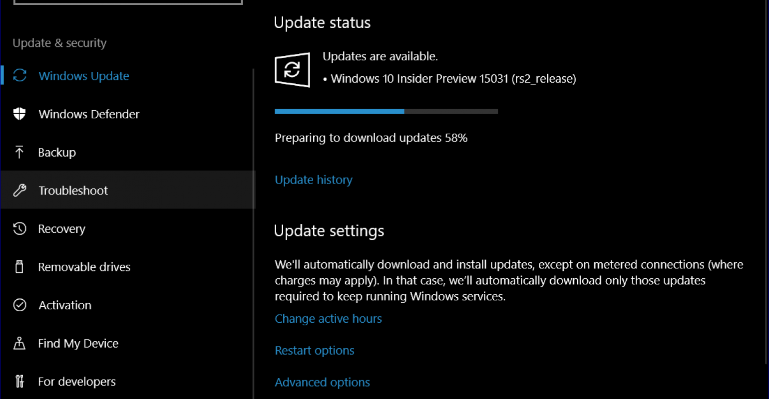 Windows 10 | The latest build of the next major update to