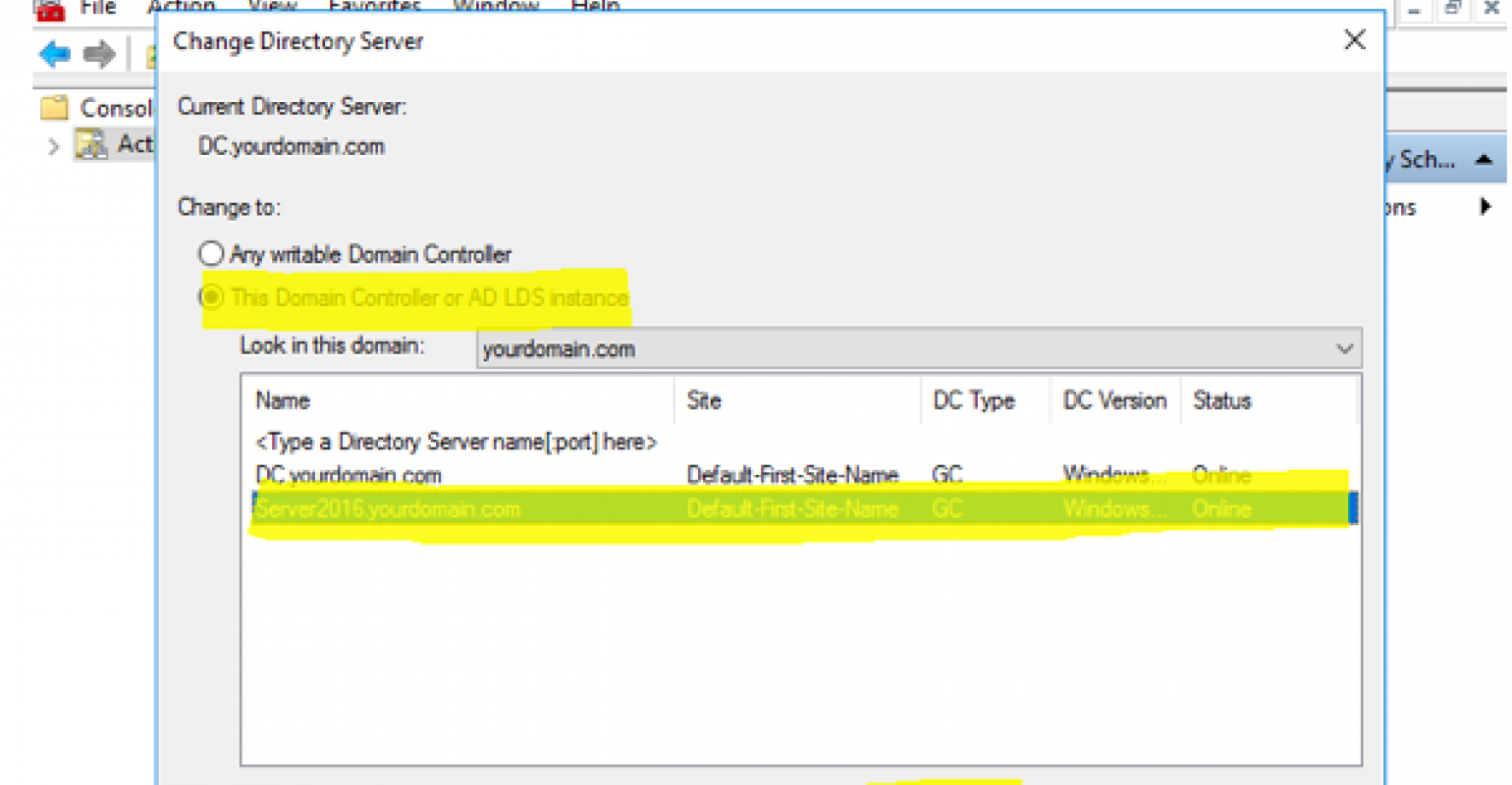 Migrating Active Directory Domain Controller from Windows