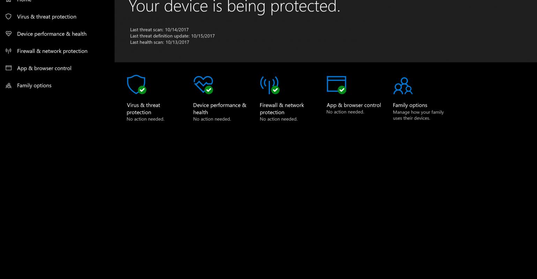 Windows 10 Fall Creators Update: Security   IT Pro