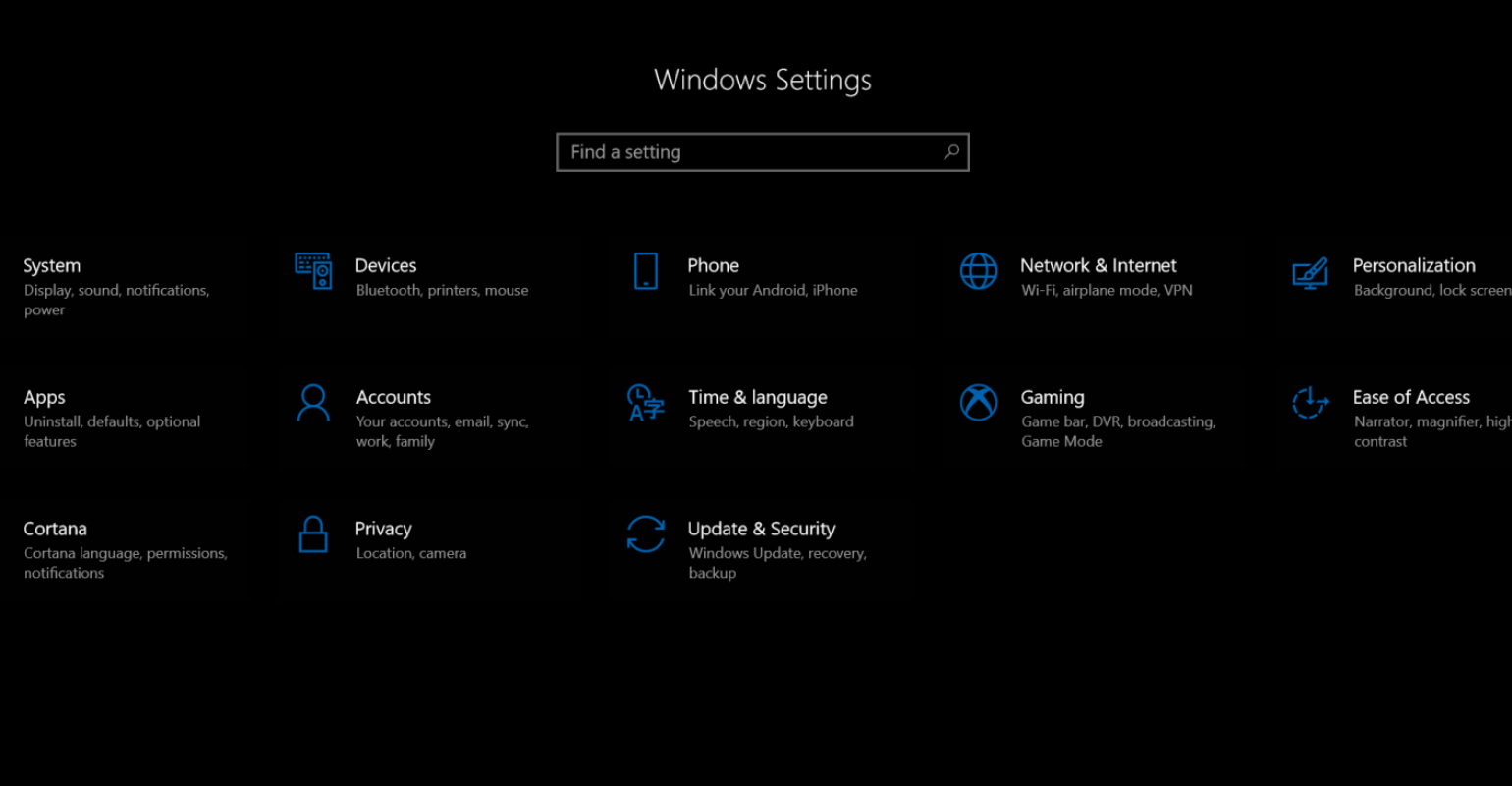The Windows 10 Control Panel Transformation Continues in