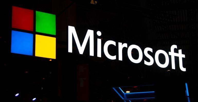 Microsoft logo dark