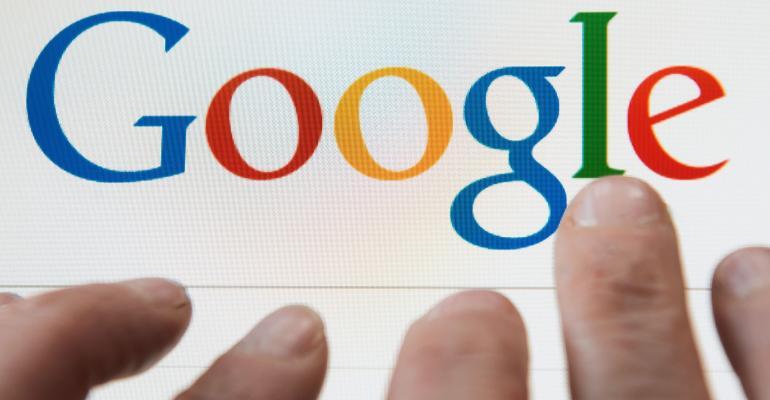 google search engine on desktop