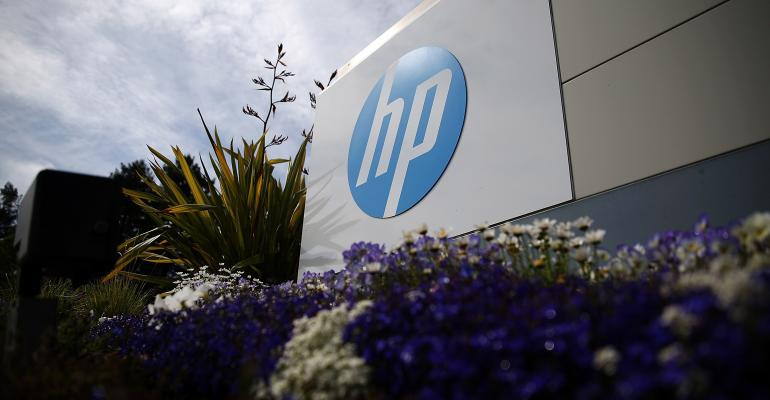 hp building logo with flowers