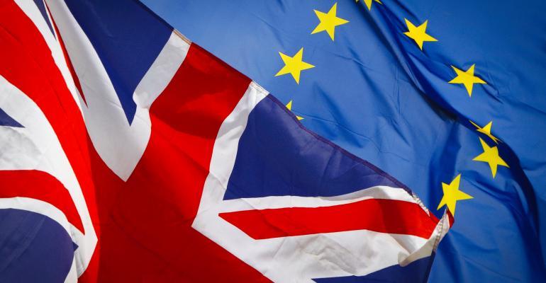 eu flag british flag brexit