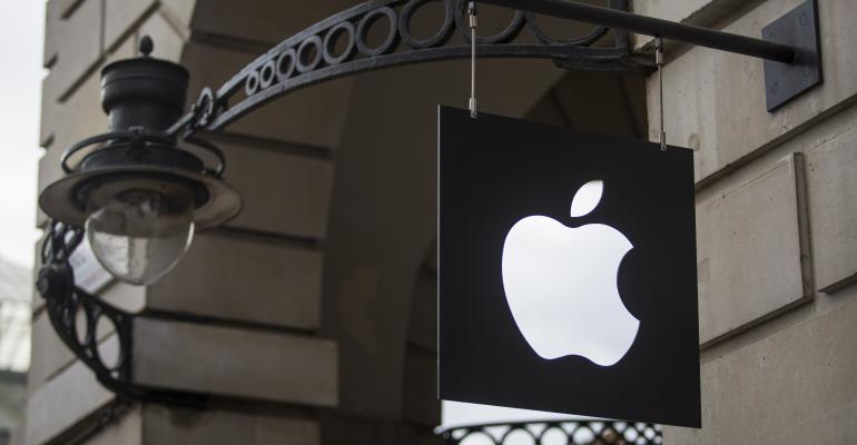 Apple logo storefront building app