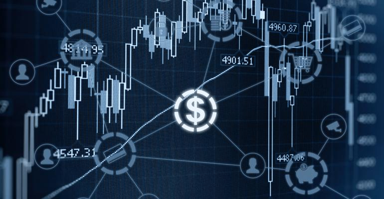 fintech money graph visual