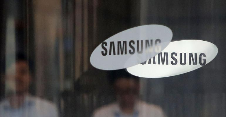 samsung glass company logo