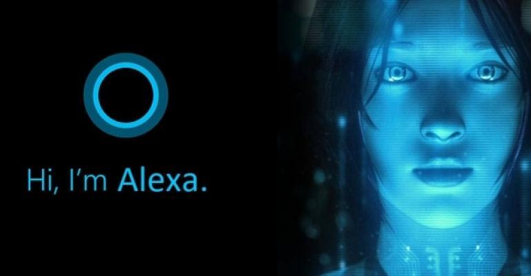 Alexa and Cortana Side by Side