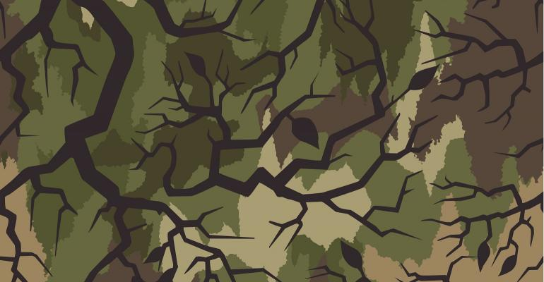 Thorn branch camouflage pattern