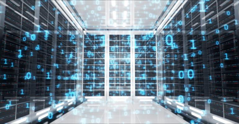 3D illustration of server room