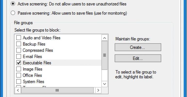 Windows Server File Server Policing