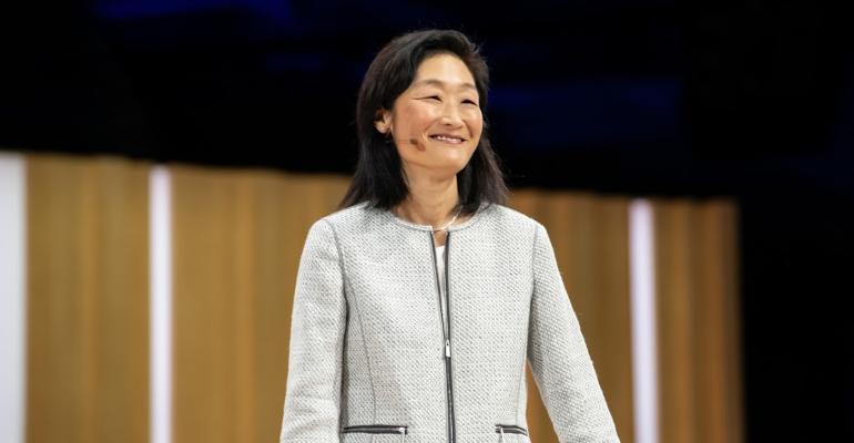 Google's director of cloud security, Jennifer Lin, speaks at Google Cloud Next 2019