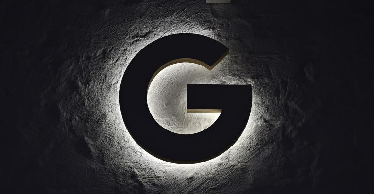 black google logo light