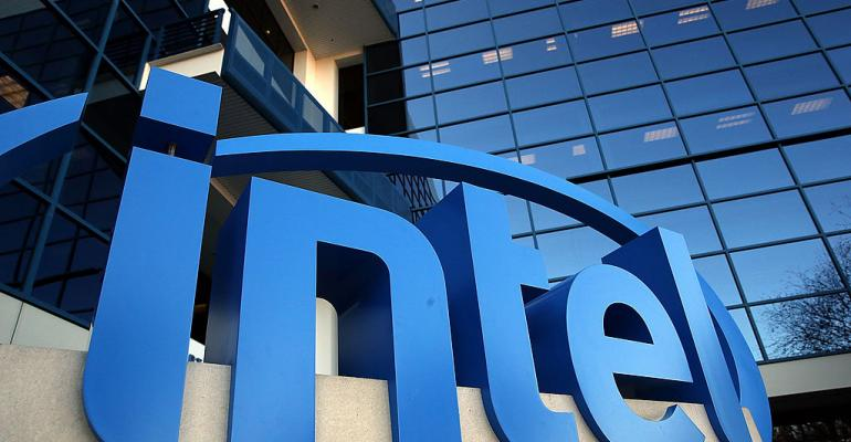Intel sign outside of office
