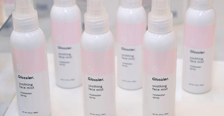 Glossier-products-displayed-in-showroom