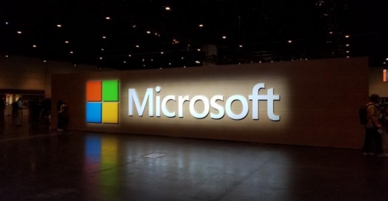 Illuminated Microsoft Logo