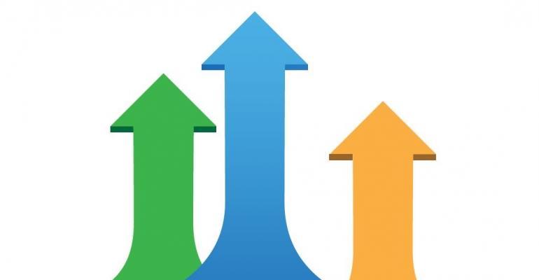 Image of three arrows pointing upward