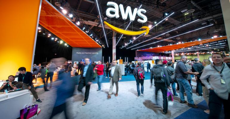 Expo hall at AWS re:Invent 2018