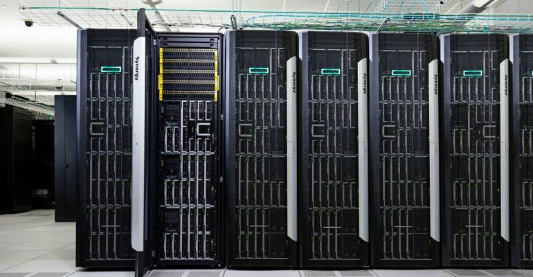 HPE Synergy racks in a data center