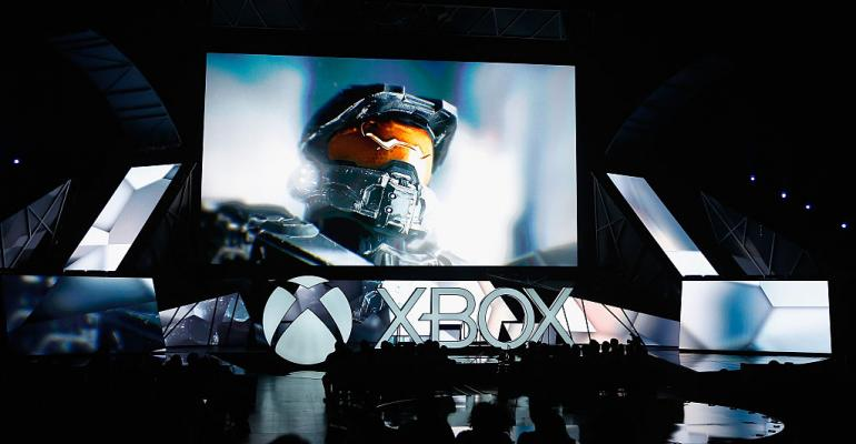 """""""Halo"""" displayed during the Microsoft Xbox E3 press conference in 2015 in Los Angeles"""