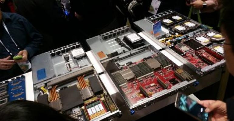 Microsoft's Open Compute-inspired servers on display at the Open Compute Summit in Santa Clara in March 2017