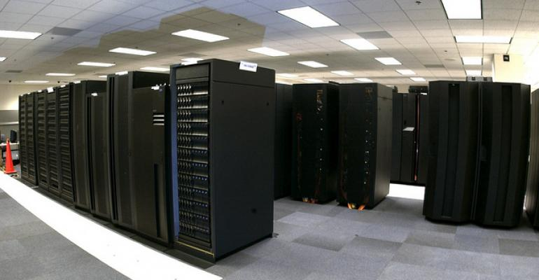 A NOAA IBM supercomputer, seen in 2009