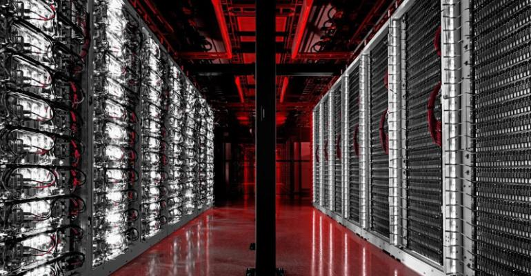 Server racks inside a Switch data center
