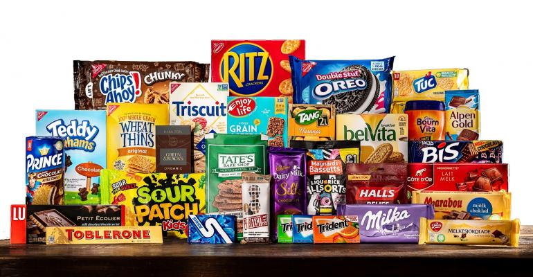 Full set of food products from Mondelez
