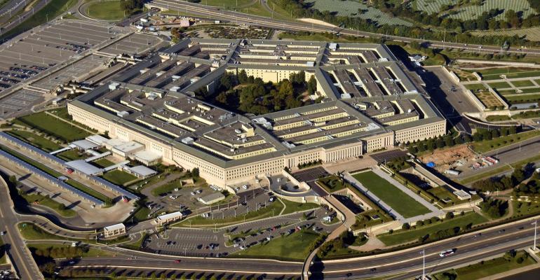 Pentagon aerial view