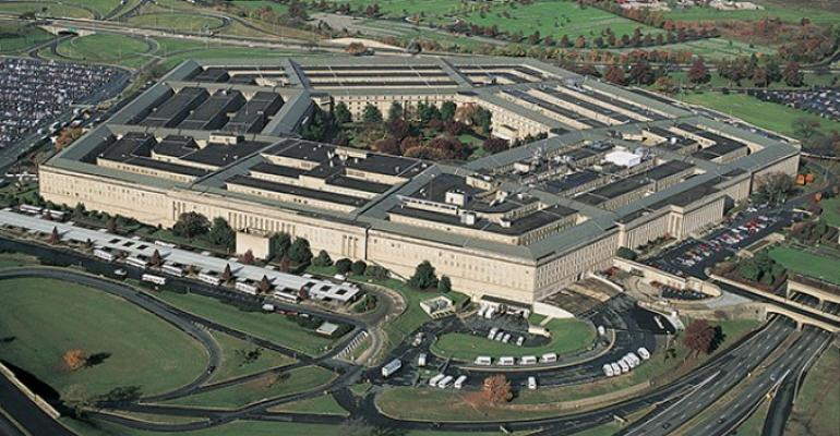Pentagon building aerial photo