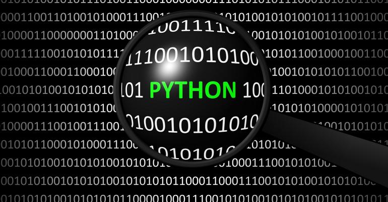 Python found in code by magnifying glass