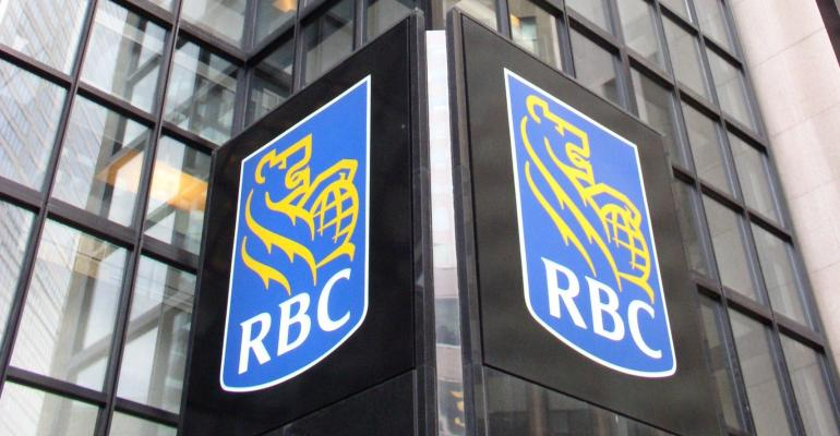 RBC royal bank of canada logo on building