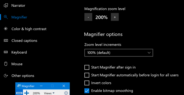 Accessibility - Magnifier