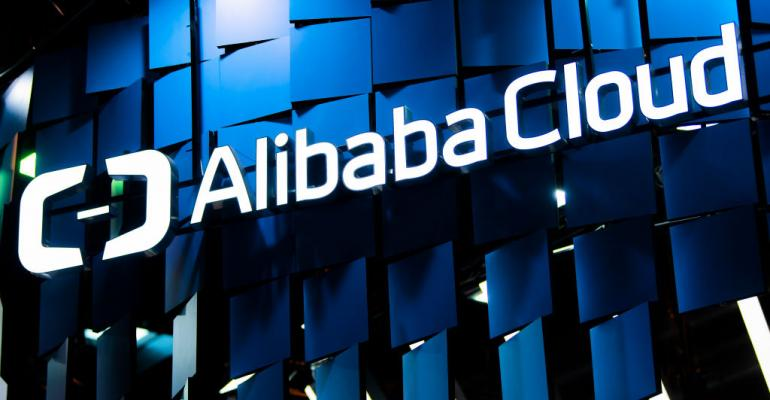 alibaba cloud logo mwc barcelona 2019 getty