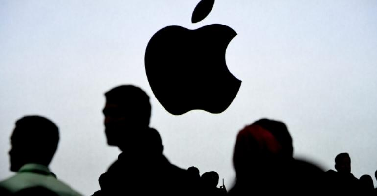 Silhouetted Apple Logo