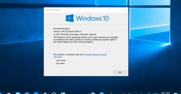 latest windows 10 build 1709