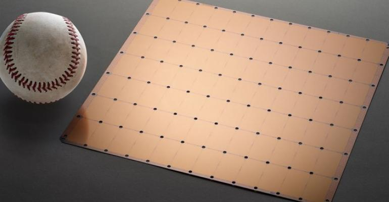 Cerebras Systems' Wafer-Scale Engine chip