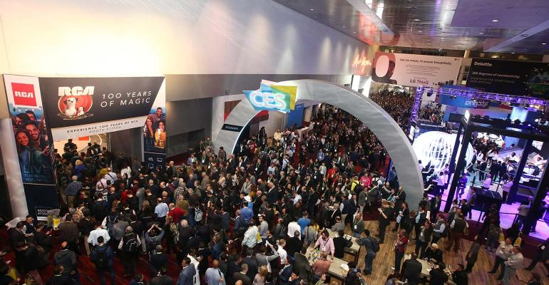 CES opening crowd